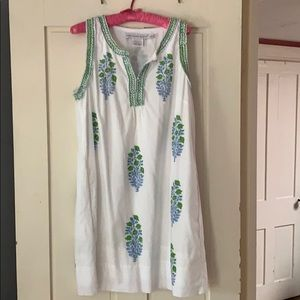 Gretchen Scott dress L white w embroidery.